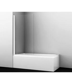 Стеклянная шторка на ванну Berkel 48P01-80 WHITE