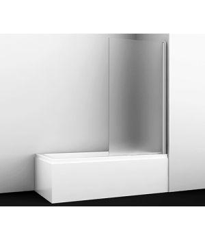 Стеклянная шторка на ванну WasserKRAFT Berkel 48P01-80R Matt glass