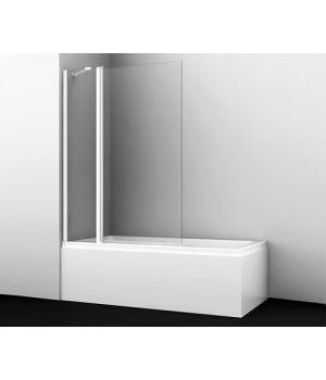 Стеклянная шторка на ванну Berkel 48P02-110 WHITE Fixed