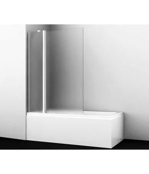 Стеклянная шторка на ванну WasserKRAFT Berkel 48P02-110L Matt glass Fixed