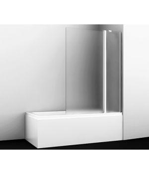 Стеклянная шторка на ванну WasserKRAFT Berkel 48P02-110R Matt glass Fixed