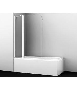 Стеклянная шторка на ванну Leine 35P02-110WHITE Fixed